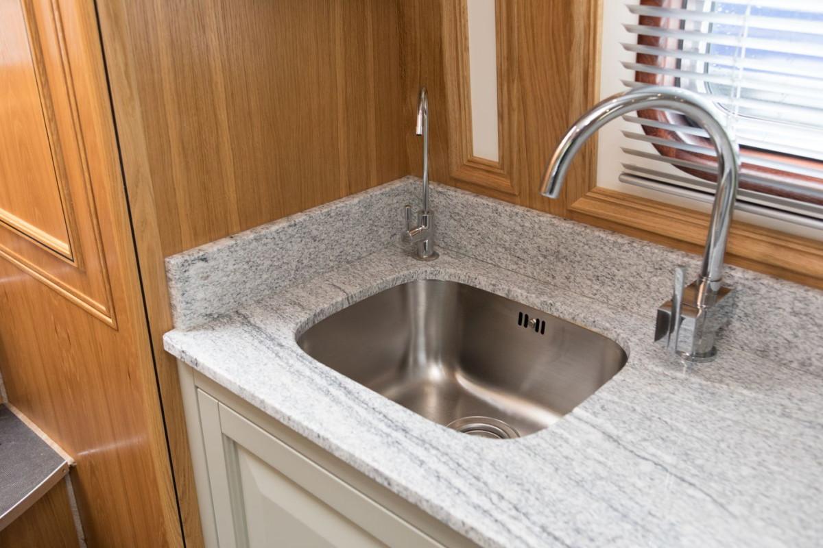 Narrow beam boat details - Kitchen sink